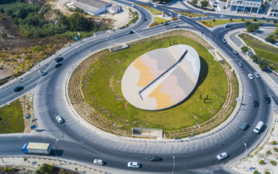 Roundabout at the city entrance